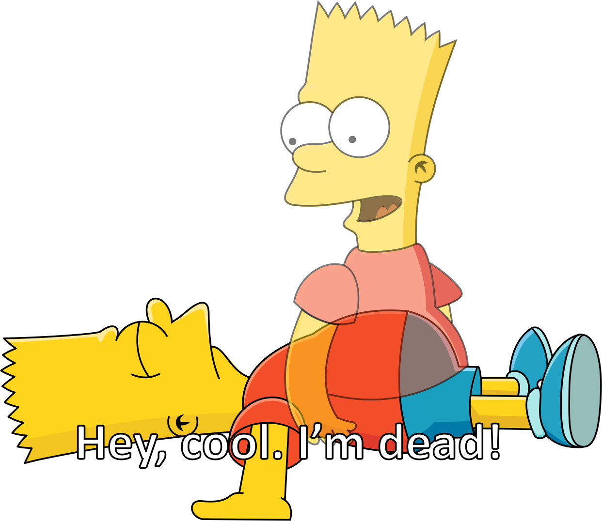 Dead memes png. Cool im the simpsons