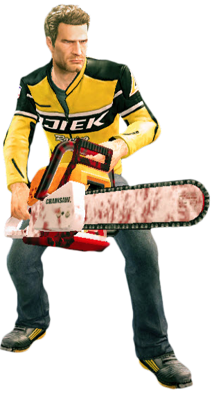 Dead rising 2 png. Image chainsaw holding holdingpng