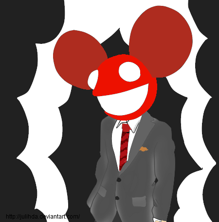 Deadmau5 drawing portrait. Deadmau by jp fred