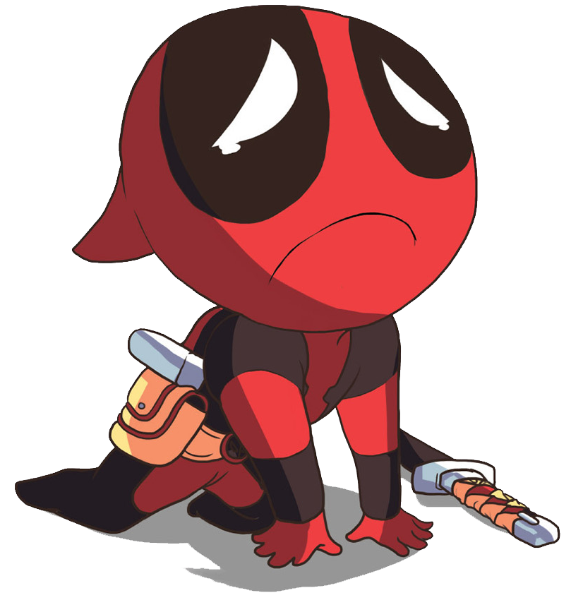 Thanos clipart chibi. Free animated deadpool cliparts