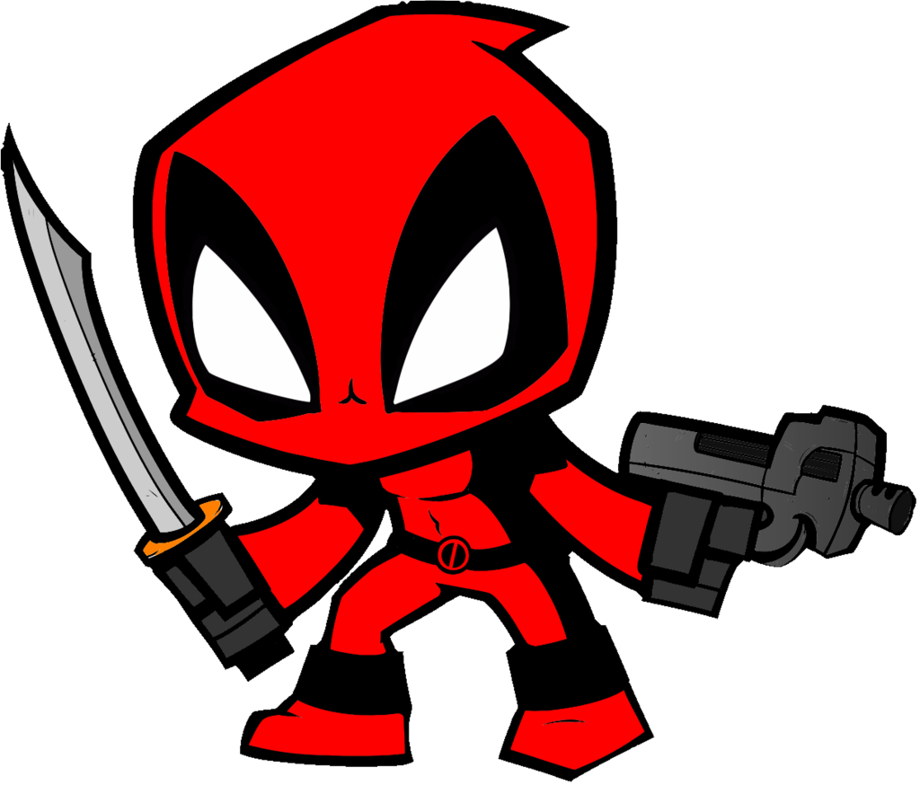 Deadpool clipart. Chibi drawing collections