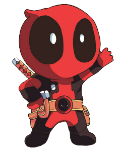 Deadpool clipart anime cute. Popular and trending stickers