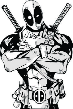 Deadpool clipart black and white. Silhouette vinyl window decal