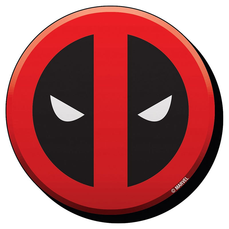 Deadpool clipart deadpool logo. Superhero magnet tvmoviedepot com
