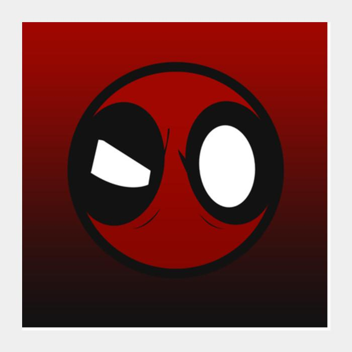 Deadpool clipart deadpool logo. Square art prints artist
