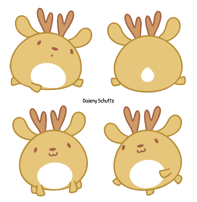 Dear drawing adorable. Chibi deer by daieny
