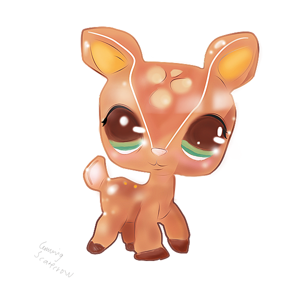 Raindeer drawing kawaii. Lps deer by cunningscarecrow