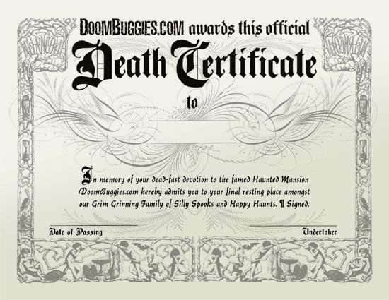 death clipart death certificate
