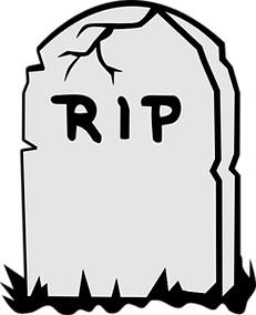 Death clipart deceased. Of a tenant in