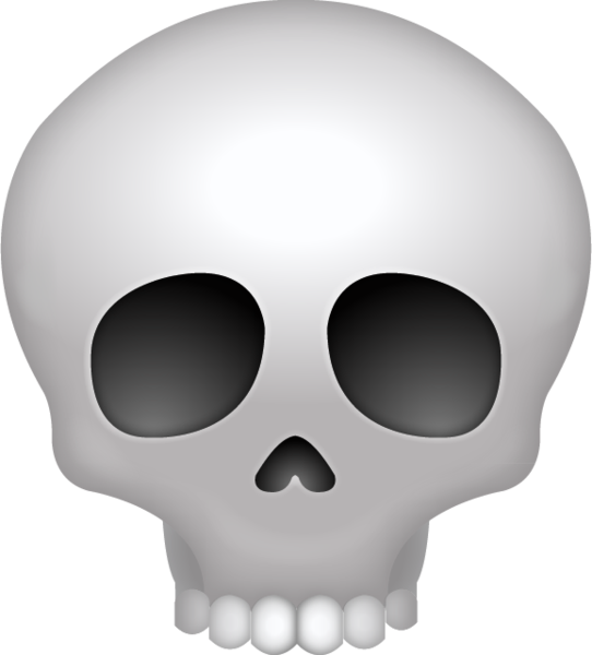 Transparent death emoji