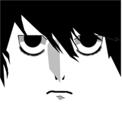 Death note l logo png. Face roblox