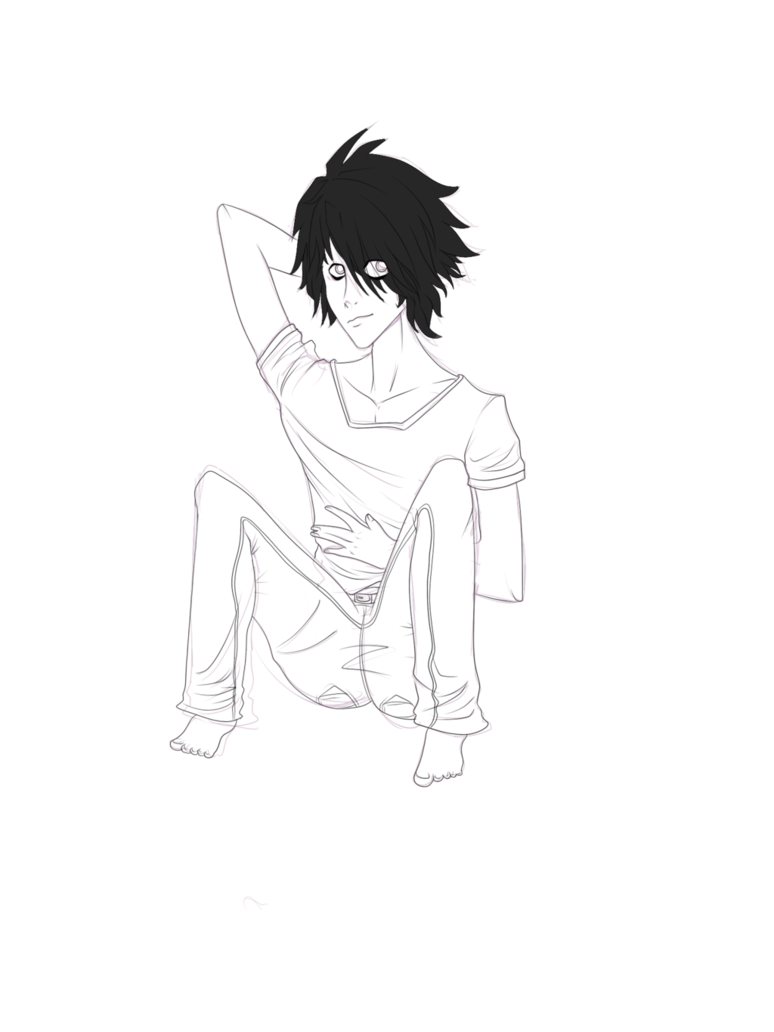 Death note l logo png. Eru lawliet lineart by