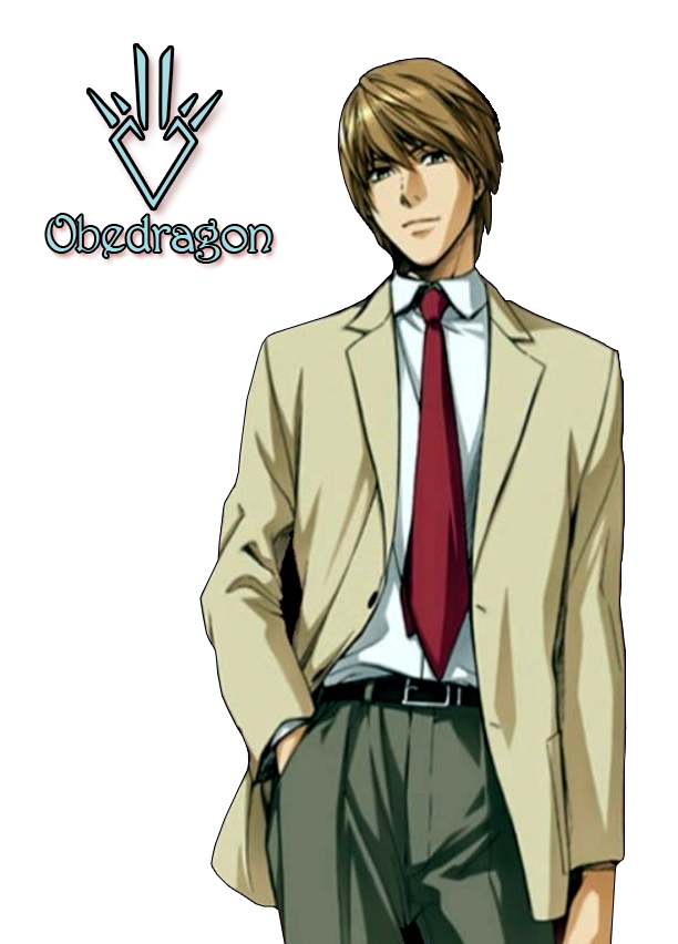 Death note light png. Yagami render by obedragon