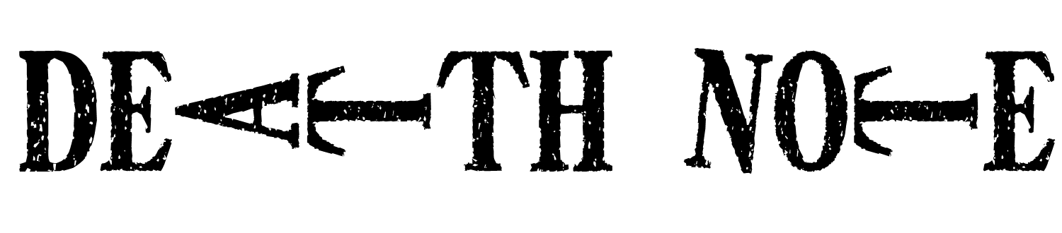 Death note logo png. Images of l spacehero