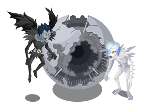 Death note ryuk png. Image line play and