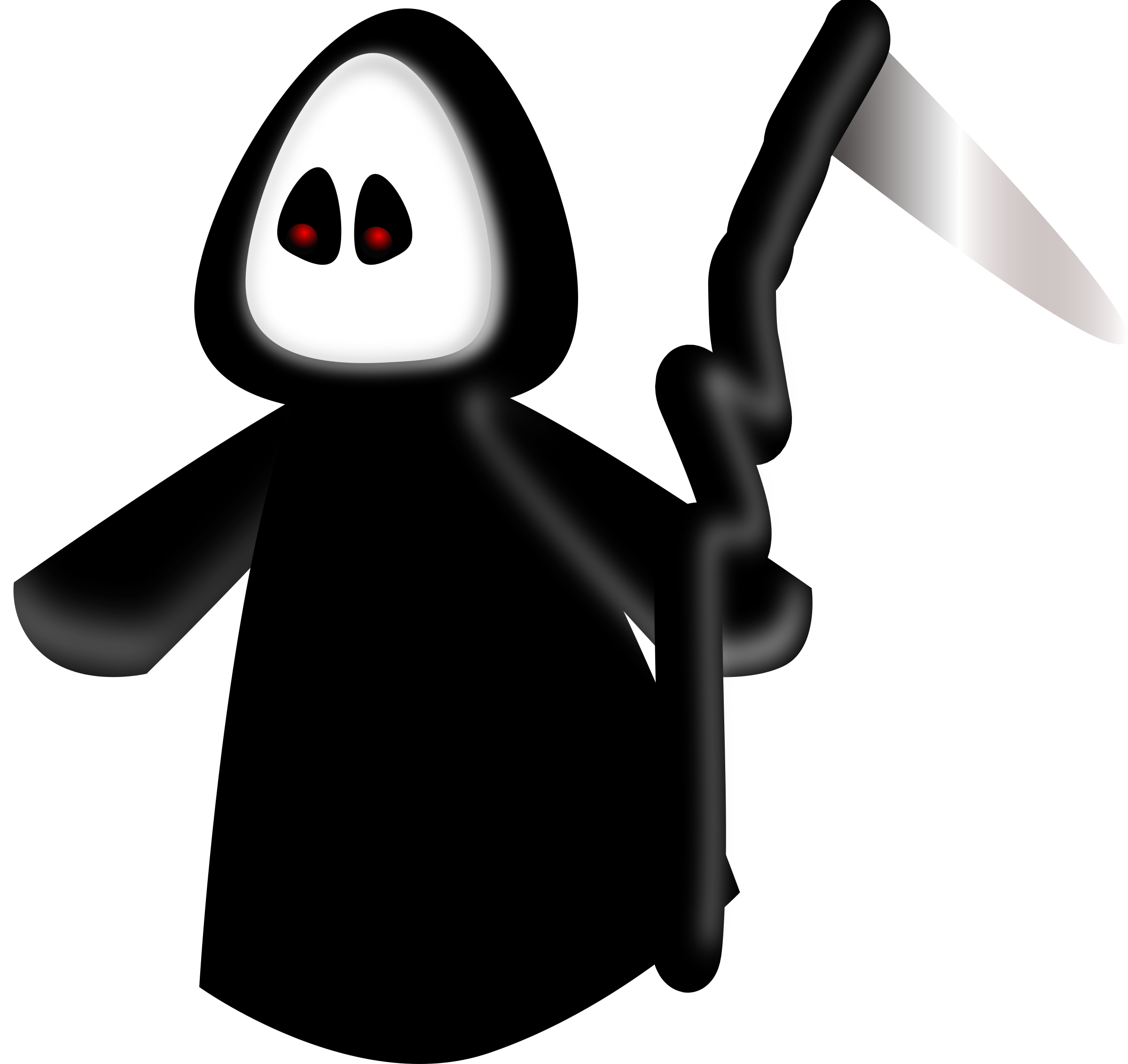 transparent death character cartoon
