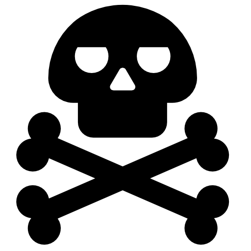 Death skull png. Royalty free stock images