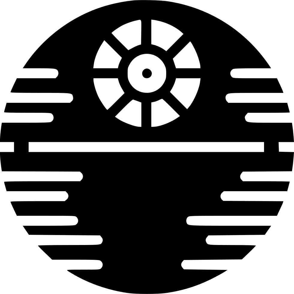Death star svg png. Deathstar vector black and white graphic stock