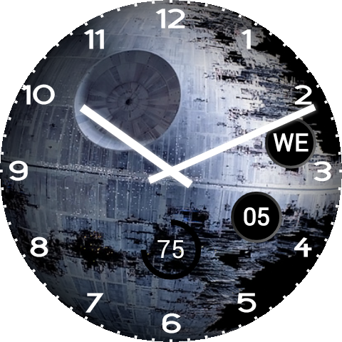 Death star interior png. Android wear watch face
