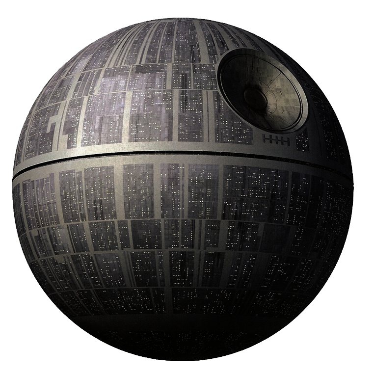 Image the death star. Deathstar vector transparent graphic library download