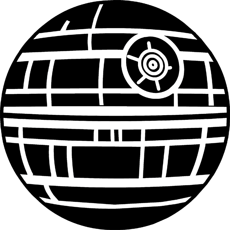 Death star silhouette png. Doodlecraft wars that s