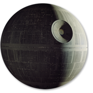 Deathstar vector. Death star st icon