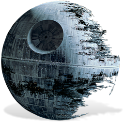 Deathstar vector art. Death star nd icon