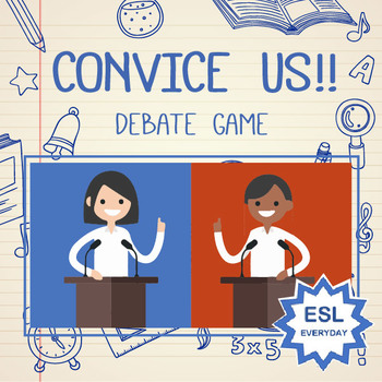 Debate clipart convincing. Convince us game powerpoint