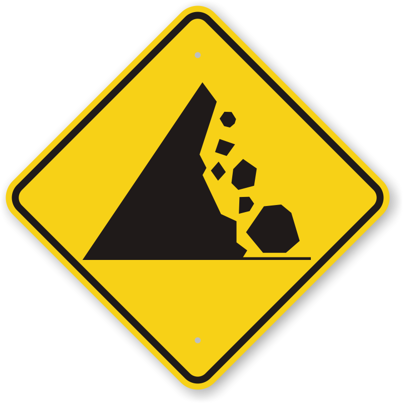 Debris falling png. Do not climb on