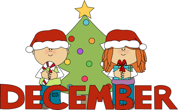 December clipart. Month of