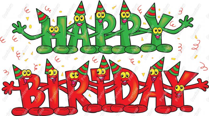 December clipart animated. Birthday