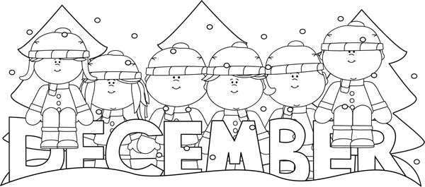 December clipart black and white. Free cliparts download clip