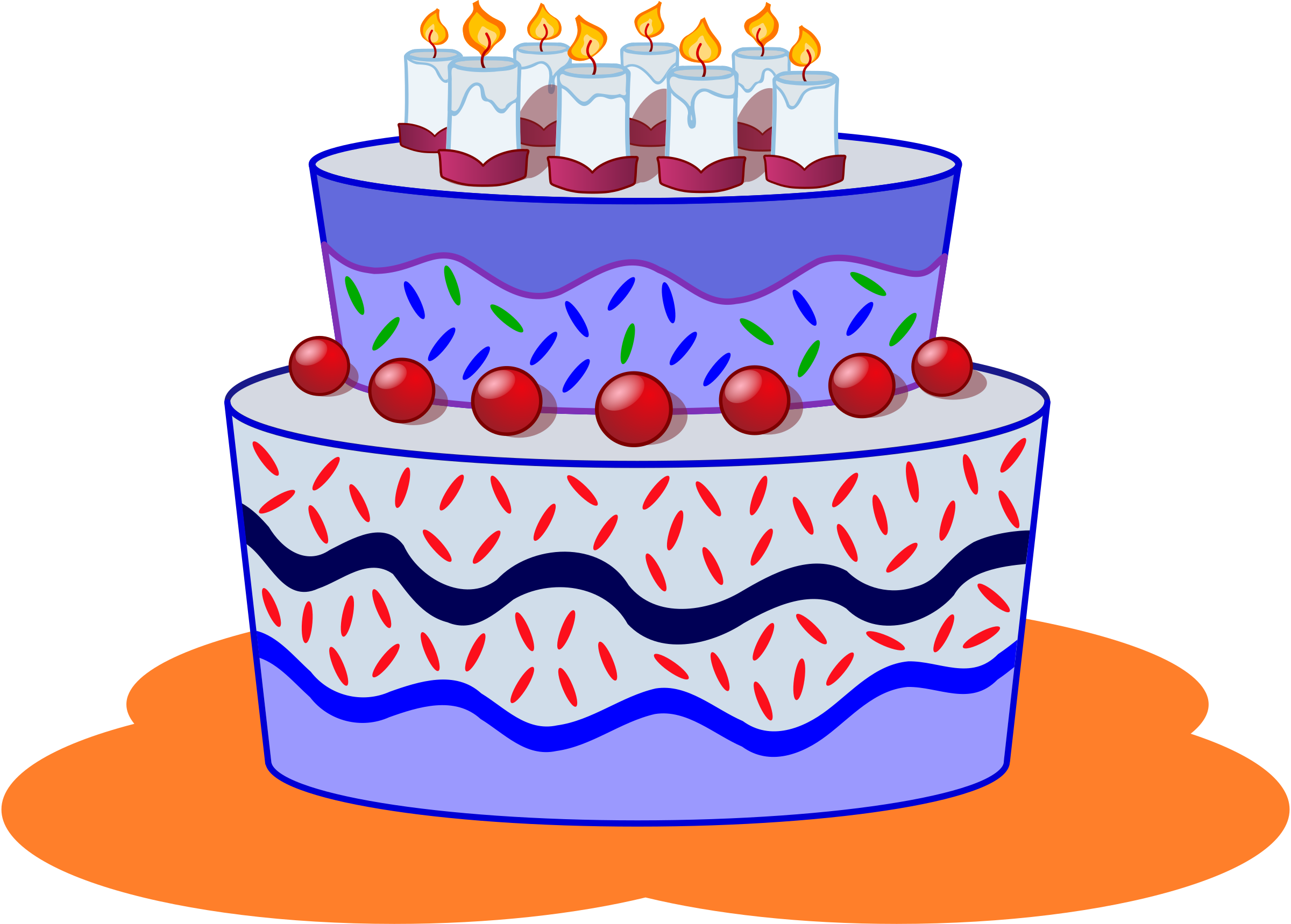 December clipart birthday cake.