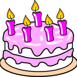 december clipart birthday cake
