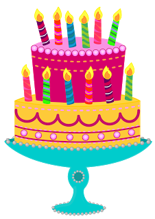 December clipart birthday cake png black and white