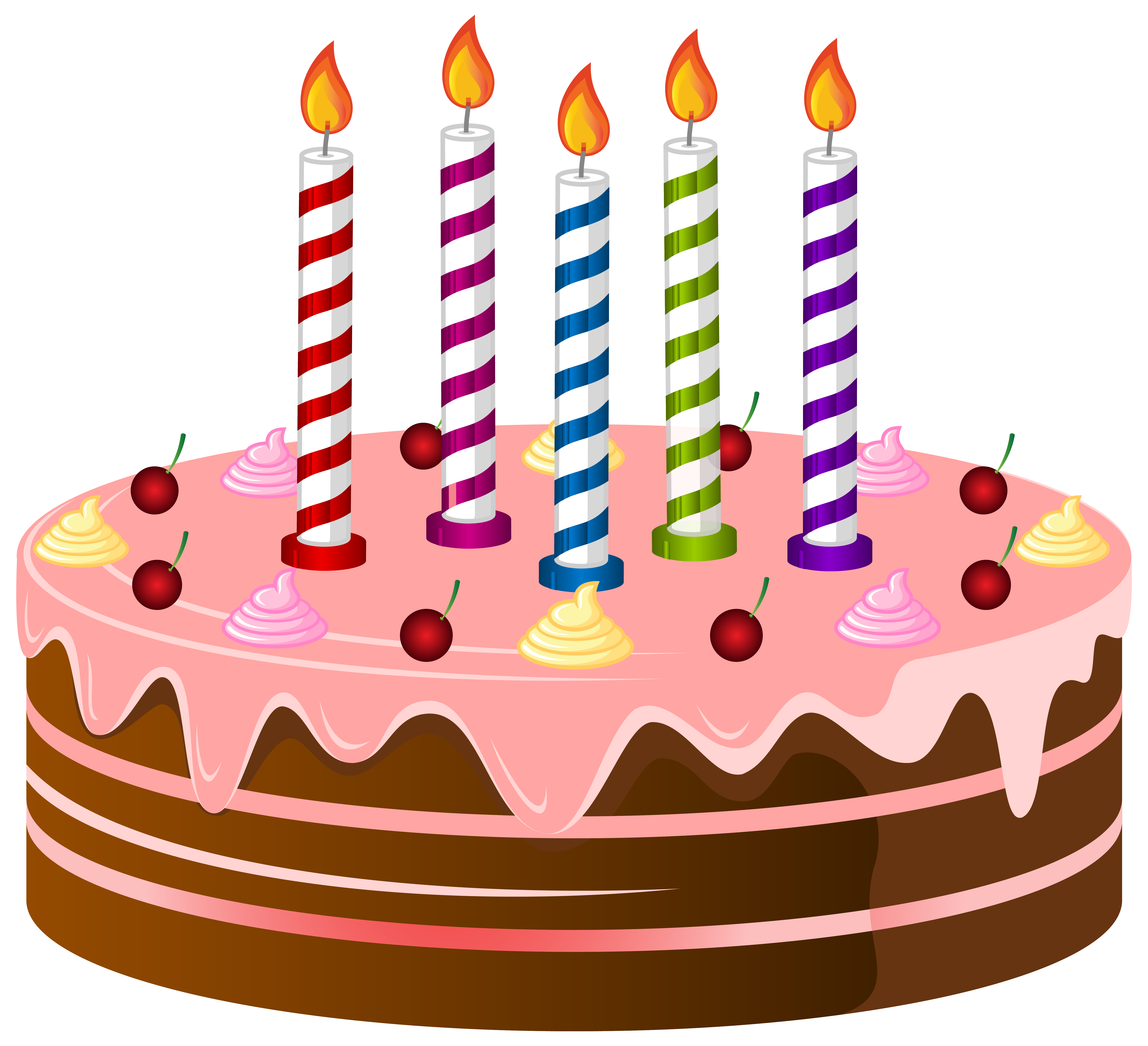 birthday cake with candles png
