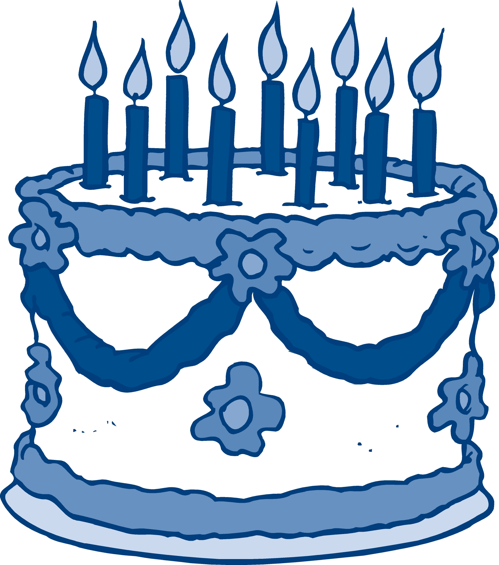 December clipart birthday cake. Blue animehana com