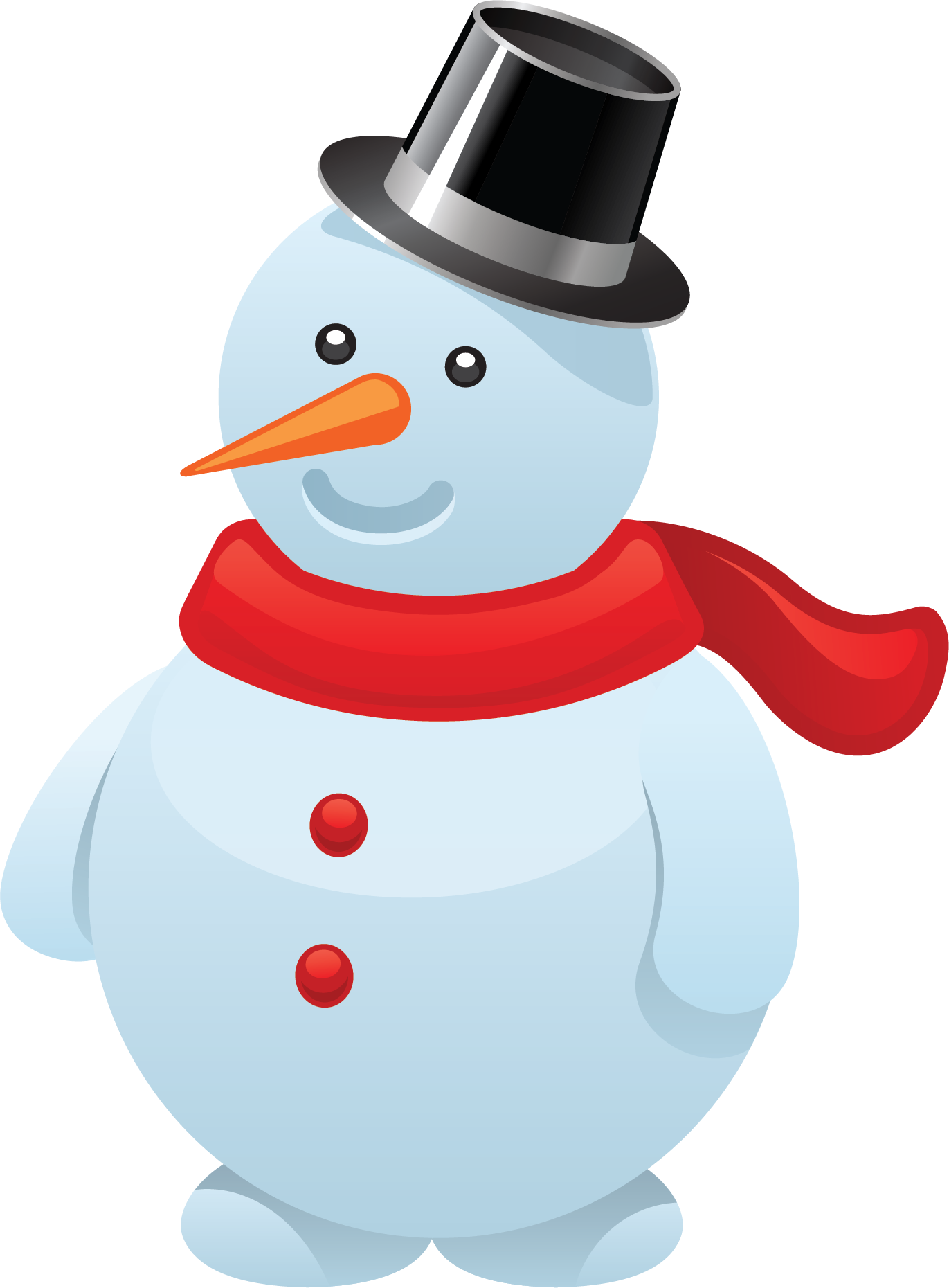happy holidays clipart snowman