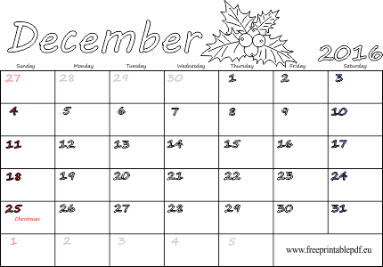 December clipart december 2016. Monthly planner kit images