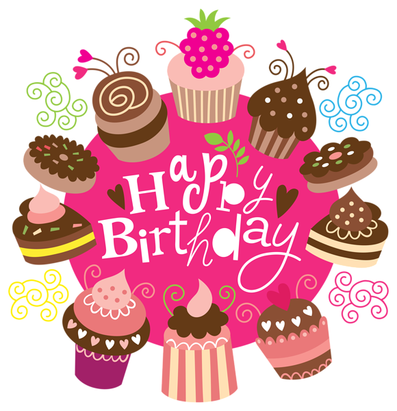 December clipart happy birthday. With cakes image wishes