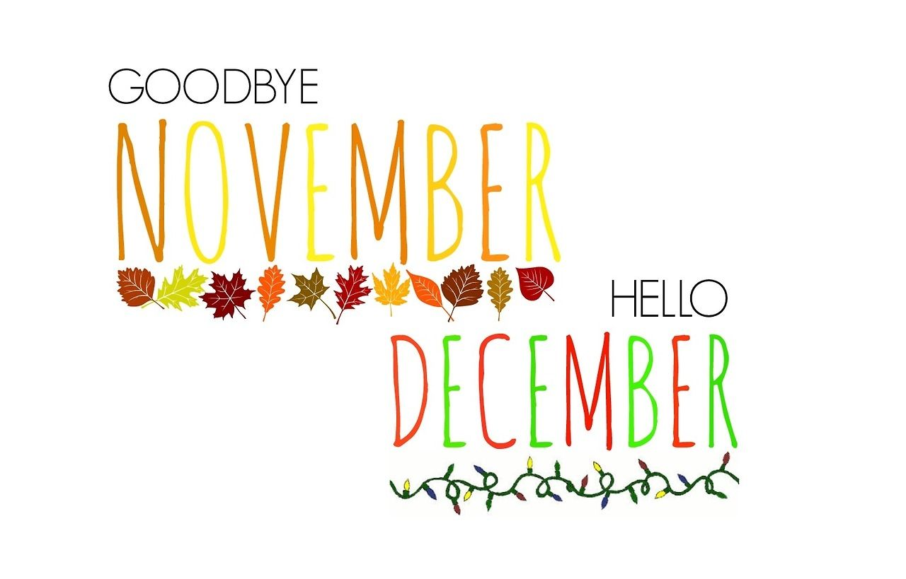 December clipart hello december. Goodbye november month images