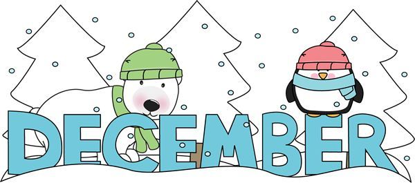 december clipart hello december