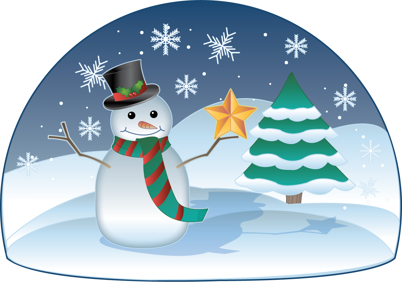December clipart scene. Winter free download clip