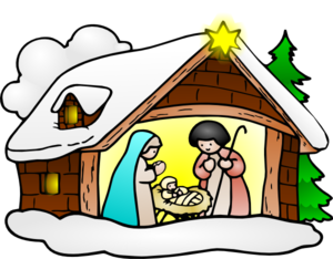 Religious december . Nativity clipart banner transparent library