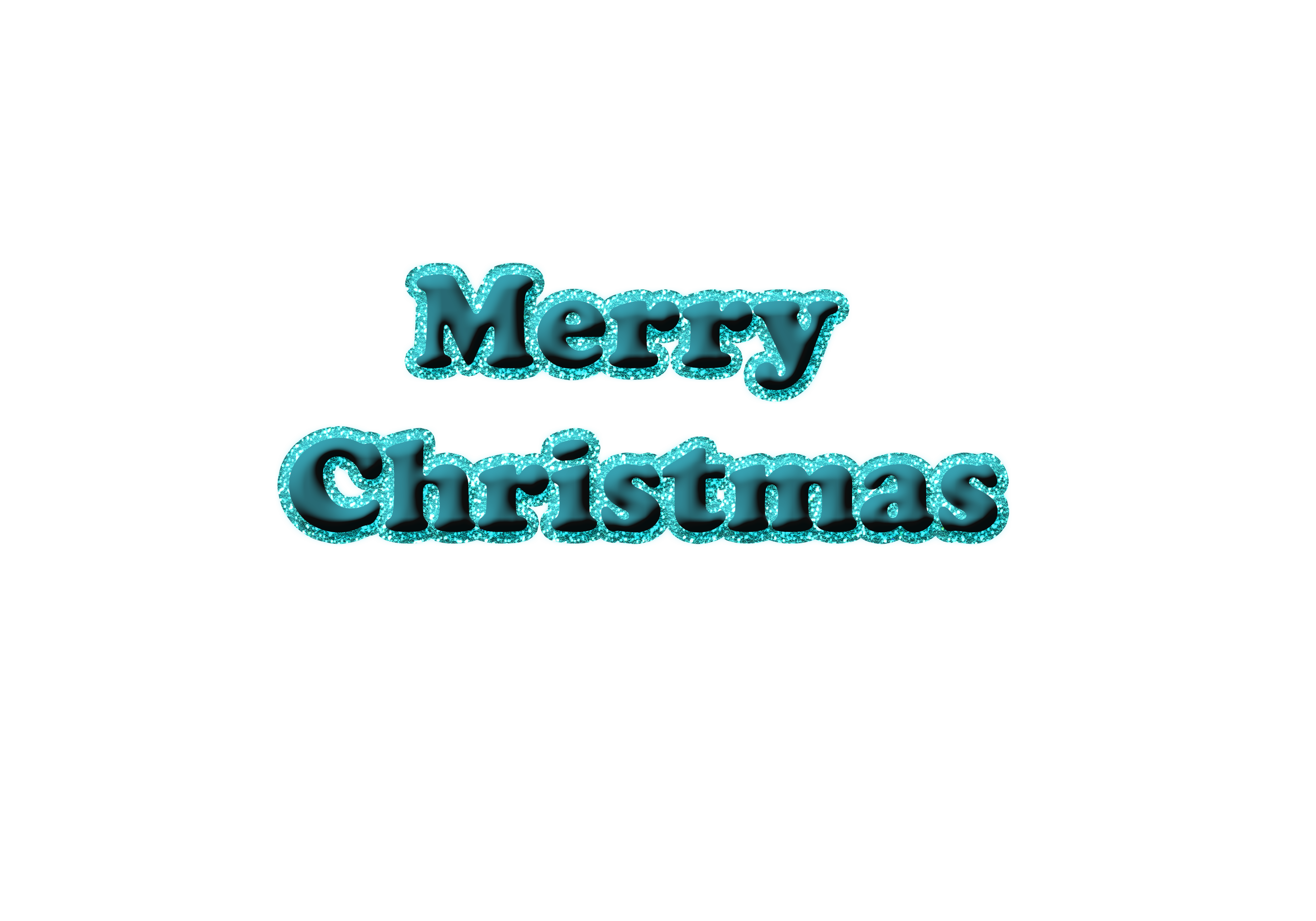 December png glitter. Merry christmas in blue