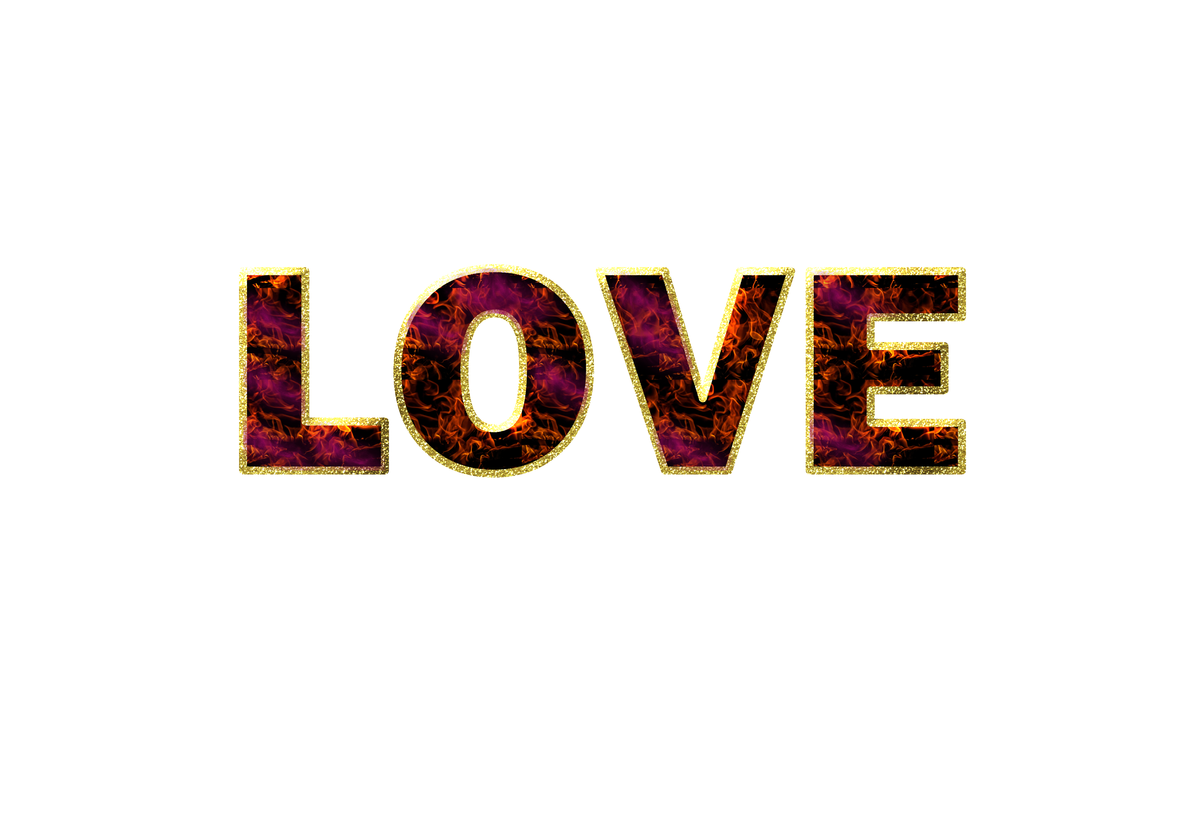 December png word art. Love for free images