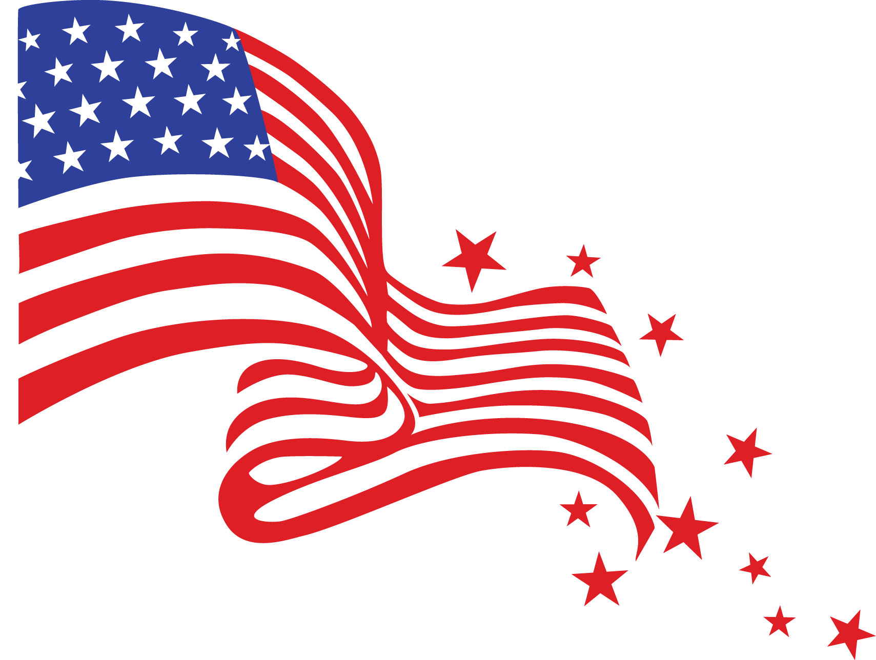 Alt american flag banner. 4th clipart independence day us image black and white
