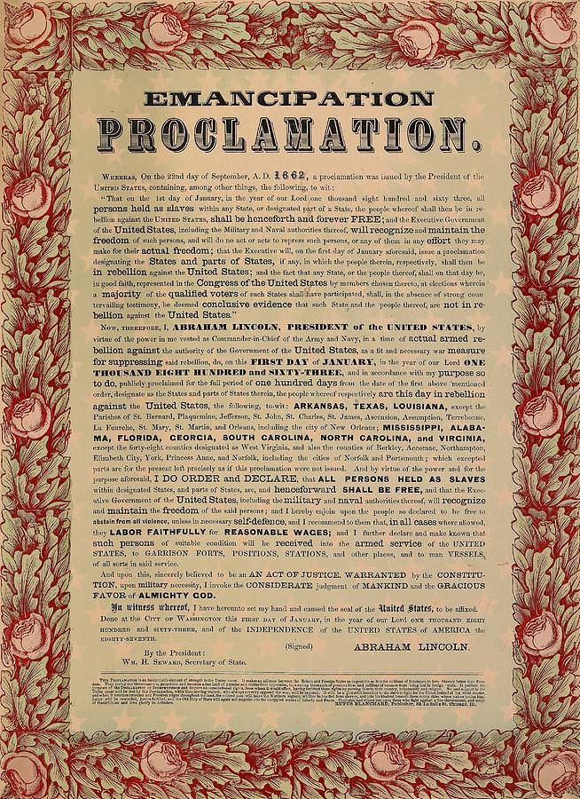 declaration of independence clipart emancipation proclamation
