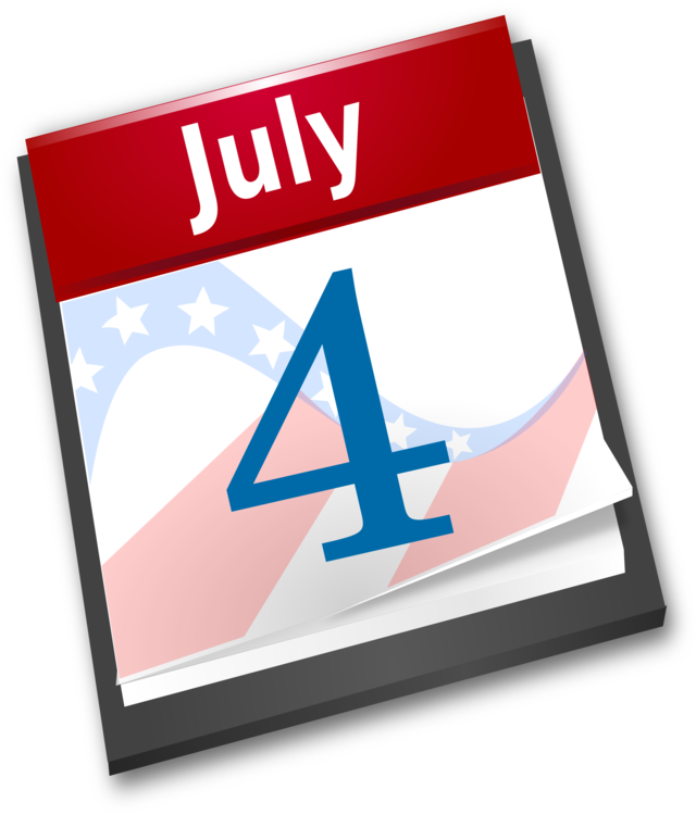 Calendar happy fourth of. 4th clipart independence day us image transparent library