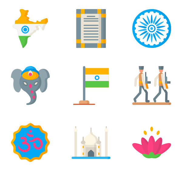 Bolywood clip vector. Independence icons free indian